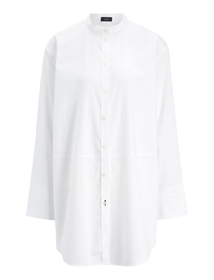 Blouse Lenno chemise blanche, in WHITE, large | on Joseph
