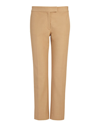 Gabardine Stretch Queen Trousers, in ALMOND, large | on Joseph