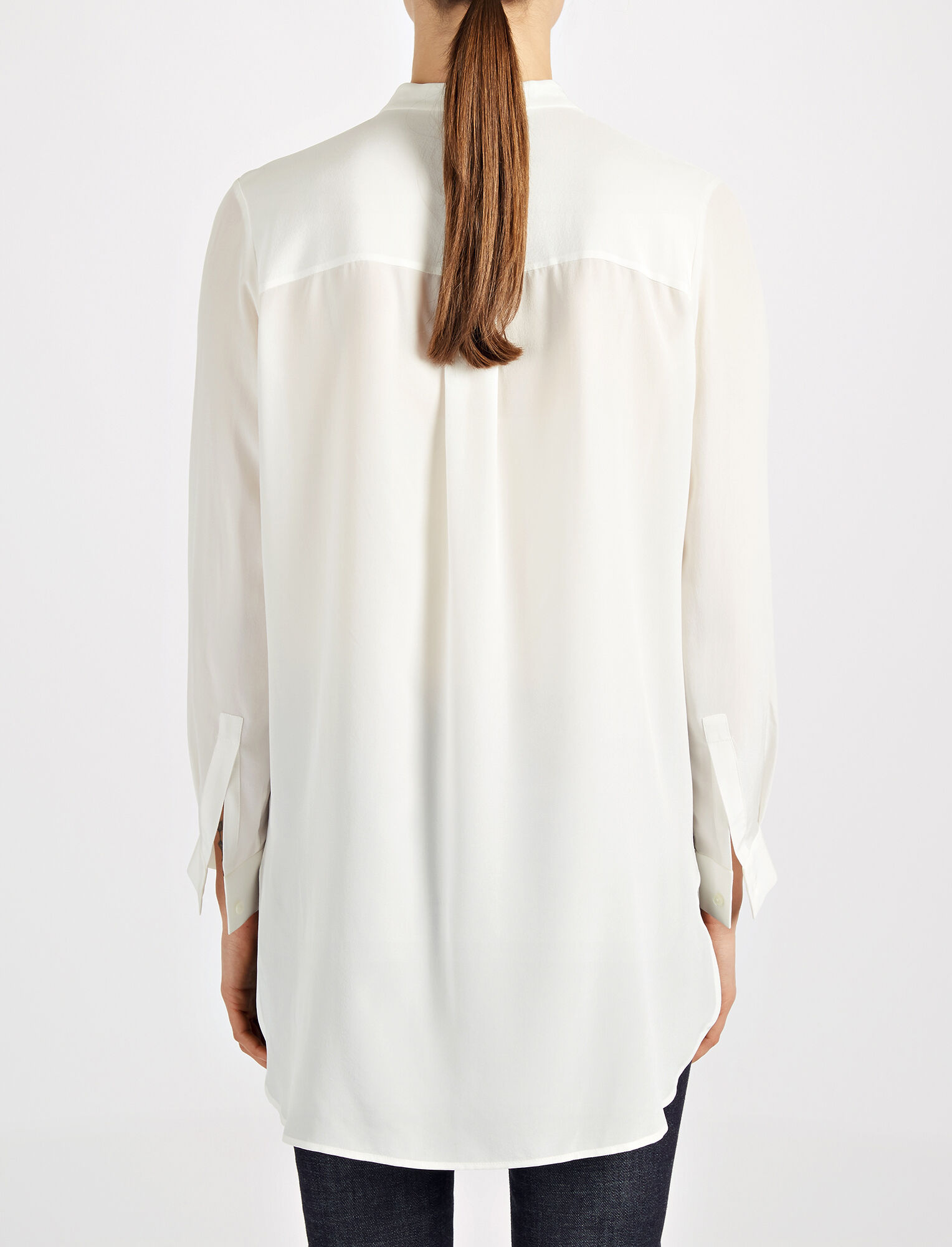Joseph, Crepe de Chine Dara Blouse, in OFF WHITE