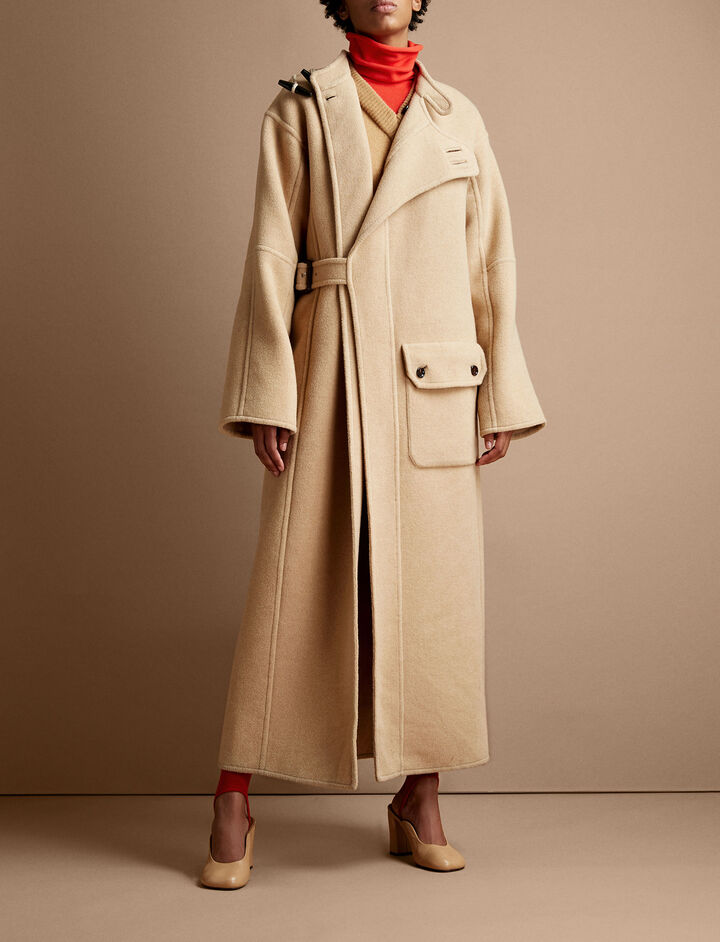 Joseph, Booth Blown Wool Cashmere Coat, in CAMEL