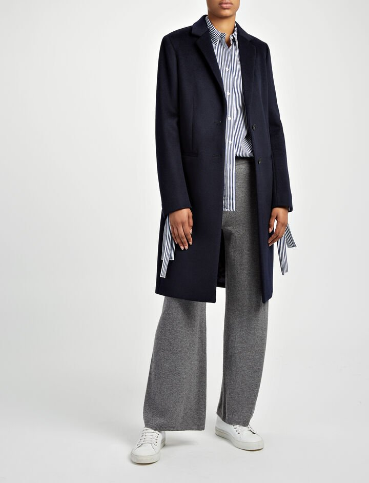 New Wool Coat Martin Coat, in NAVY, large | on Joseph