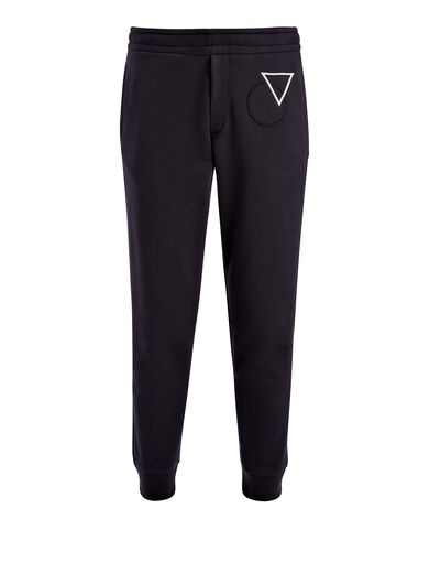 Pantalon de sport en sweatshirt et badges, in NAVY, large | on Joseph