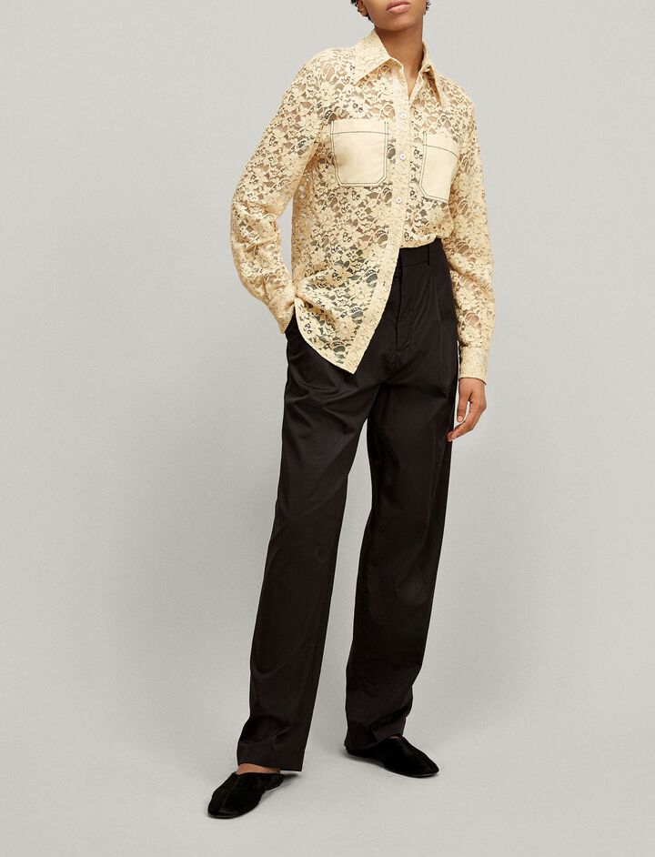 Joseph, Robin Palermo Lace Blouse, in BUTTER
