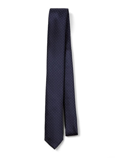 Dot Silk Tie, in NAVY, large | on Joseph