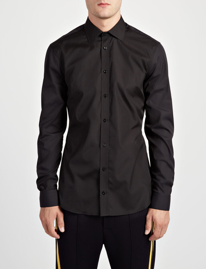 Joseph, Poplin + Poplin Stretch Cecile Shirt, in BLACK