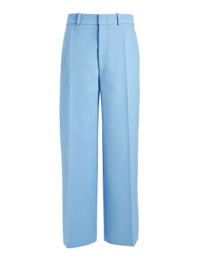 Pantalon court Ferrandi en twill de laine et coton, in CIEL, large | on Joseph