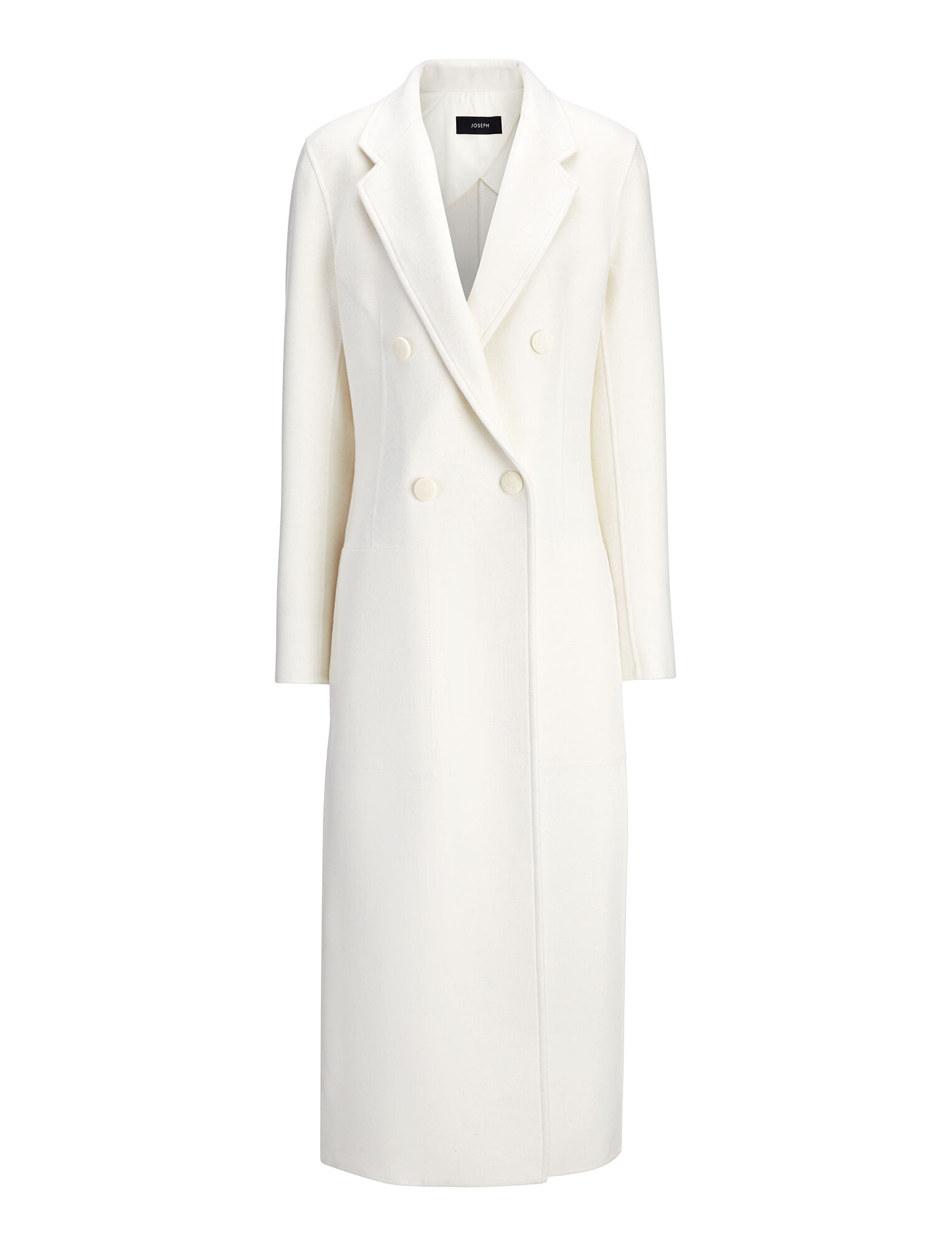 Joseph, Light Double Cashmere Bailey Coat, in CHALK