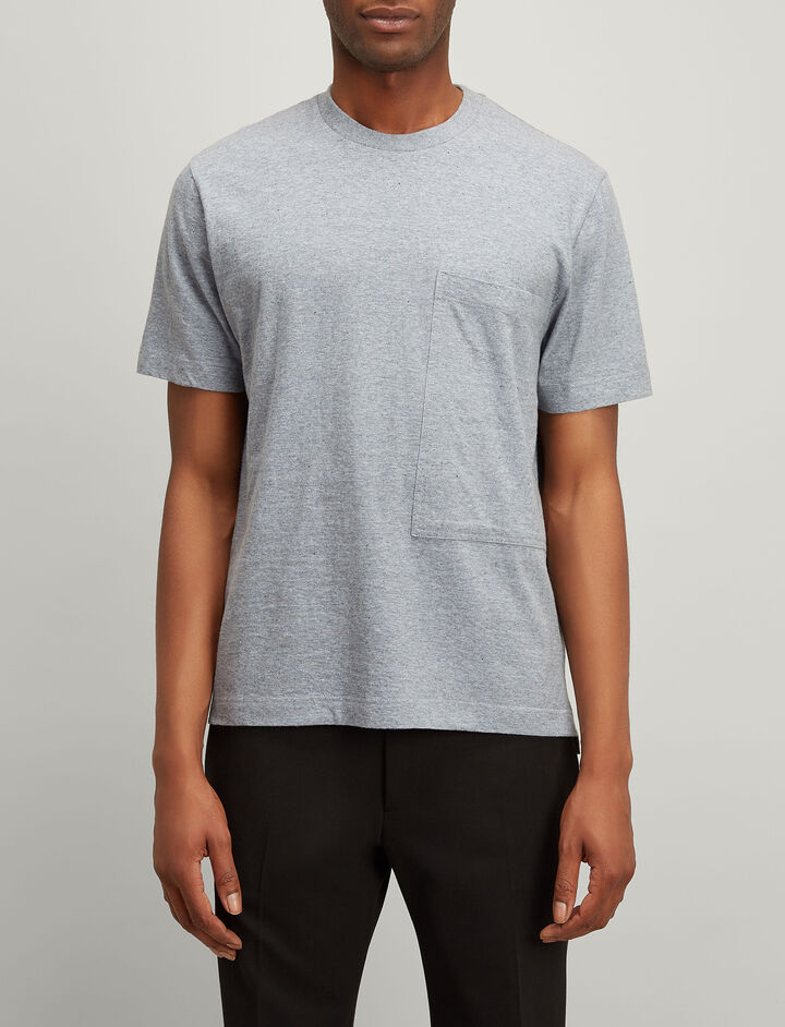 Recycled Cotton Tee, in GREY CHINE, large | on Joseph
