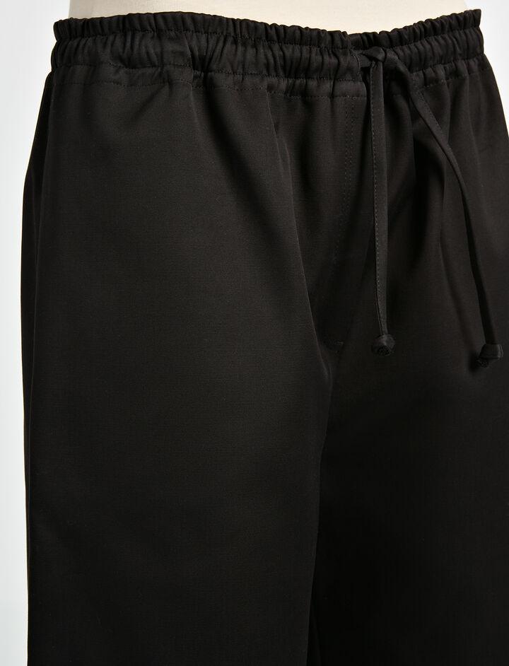 Compact Cotton Boxer Short, in BLACK, large | on Joseph