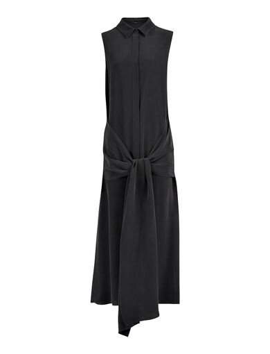 Matt Silk Alto Dress, in BLACK, large | on Joseph