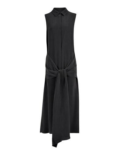 Matt Silk Alto Dress, in BLACK, large | on Joseph