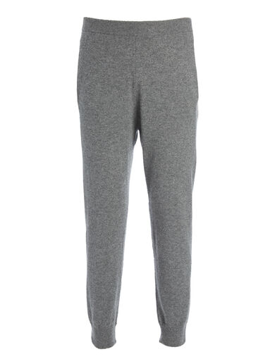 Pantalon jogger en cachemire de Mongolie, in GRAPHITE, large | on Joseph