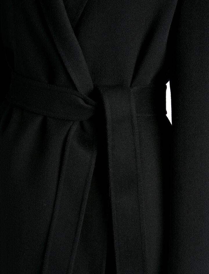 Manteau Kido en double cachemire léger, in BLACK, large | on Joseph
