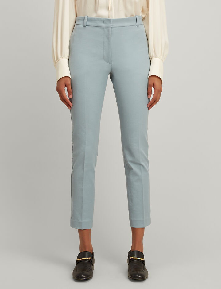 Joseph, Gabardine Stretch Zoom Trousers, in ETON