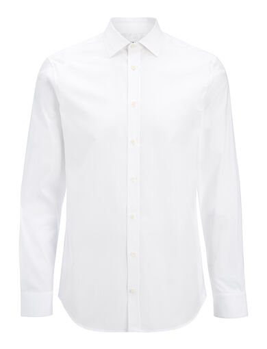 Chemise Cecil en popeline et popeline stretch, in WHITE, large | on Joseph