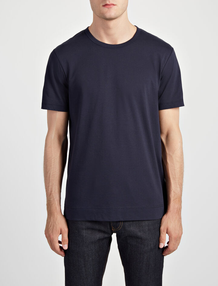 Mercerized Jersey Tee, in NAVY, large | on Joseph