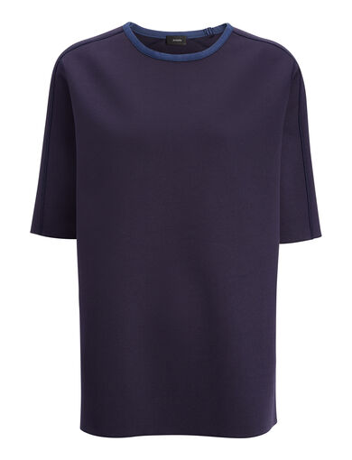 Scuba Jersey Tee, in MARINE, large | on Joseph