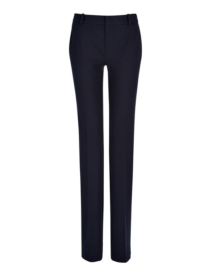 Gabardine Stretch New Rocket Trouser, in NAVY, large | on Joseph