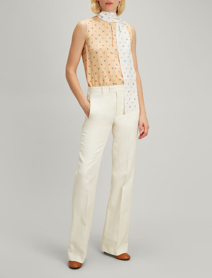 Joseph, Ramie Cotton Kosta Trousers, in ECRU