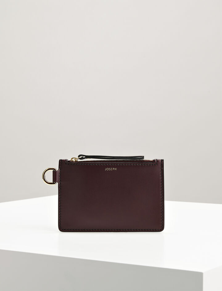 Joseph, Calf Leather Coin Purse, in MORGON