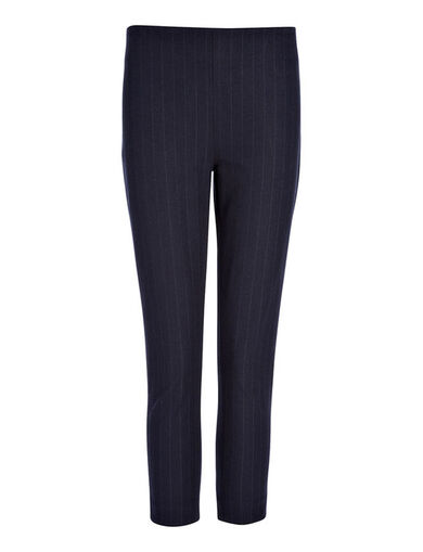 Gabardine Stretch Jacquard New Tony Crop Trouser, in NAVY, large | on Joseph