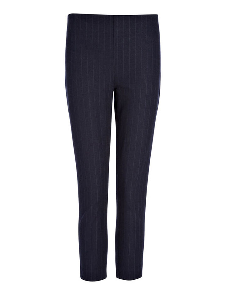 Pantalon court New Tony en gabardine stretch, in NAVY, large | on Joseph