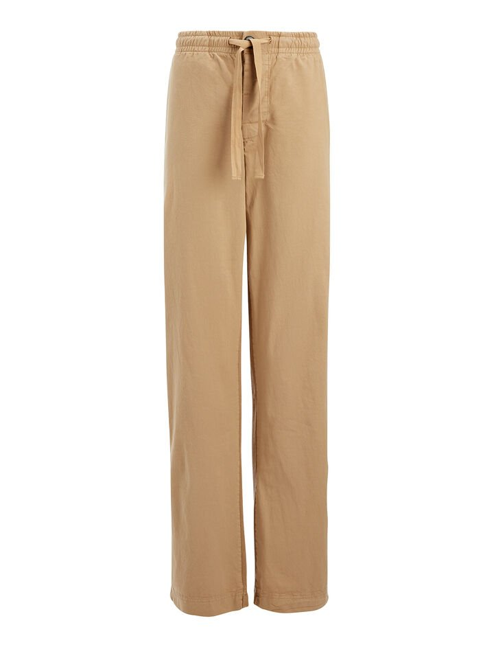 Garment Dyed Molleton Pant, in ARMY, large | on Joseph