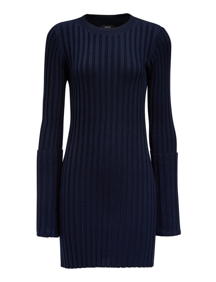 Joseph, Merinos-rib Tunic, in NAVY