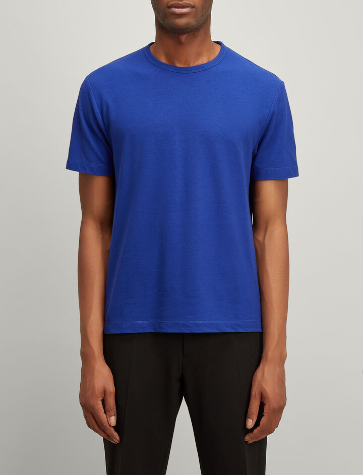 Ice Jersey Tee, in COBALT BLUE, large | on Joseph