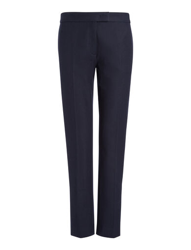 Gabardine Stretch Finley Trousers, in NAVY, large | on Joseph