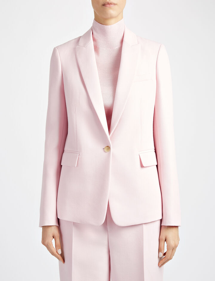 Tailoring Canvas Stead Jacket, in BUBBLE GUM, large | on Joseph
