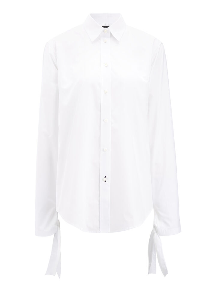 Chemise Blanche Thomas Blouse, in WHITE, large | on Joseph