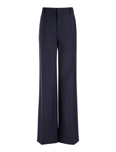 Wool Mohair Ferdy Tuxedo Trousers, in NAVY, large | on Joseph
