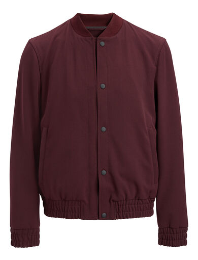 Techno Wool Stretch Tay Jacket, in Burgundy, large | on Joseph