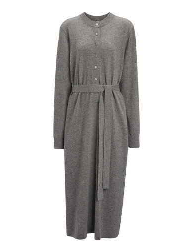 Mongolian Cashmere Eliza Dress, in GRAPHITE, large | on Joseph