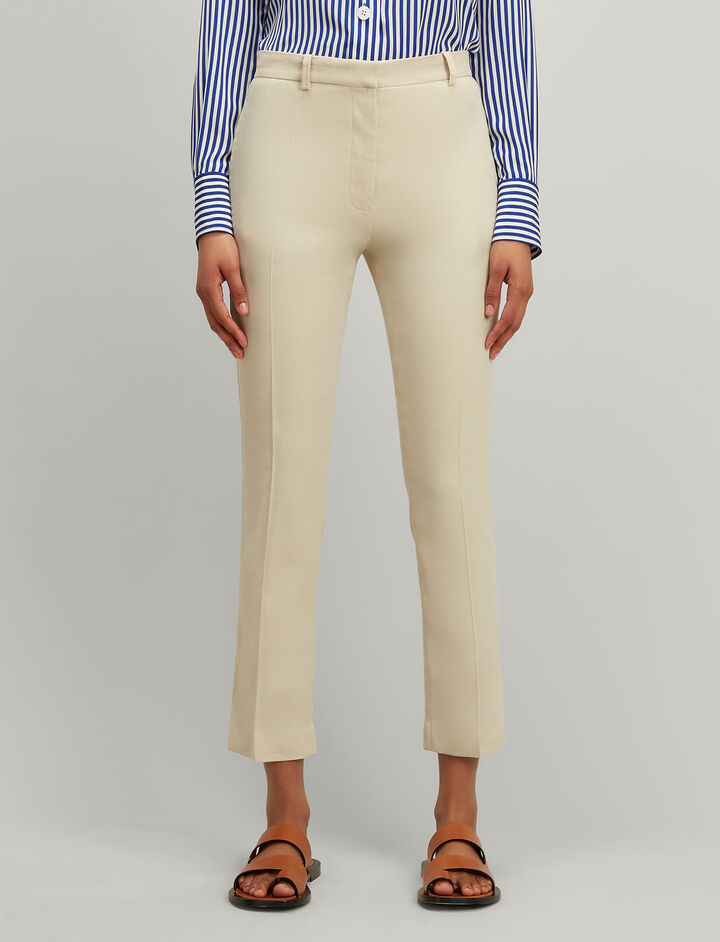 Joseph, Linen Stretch Zoom Trousers, in HESSIAN