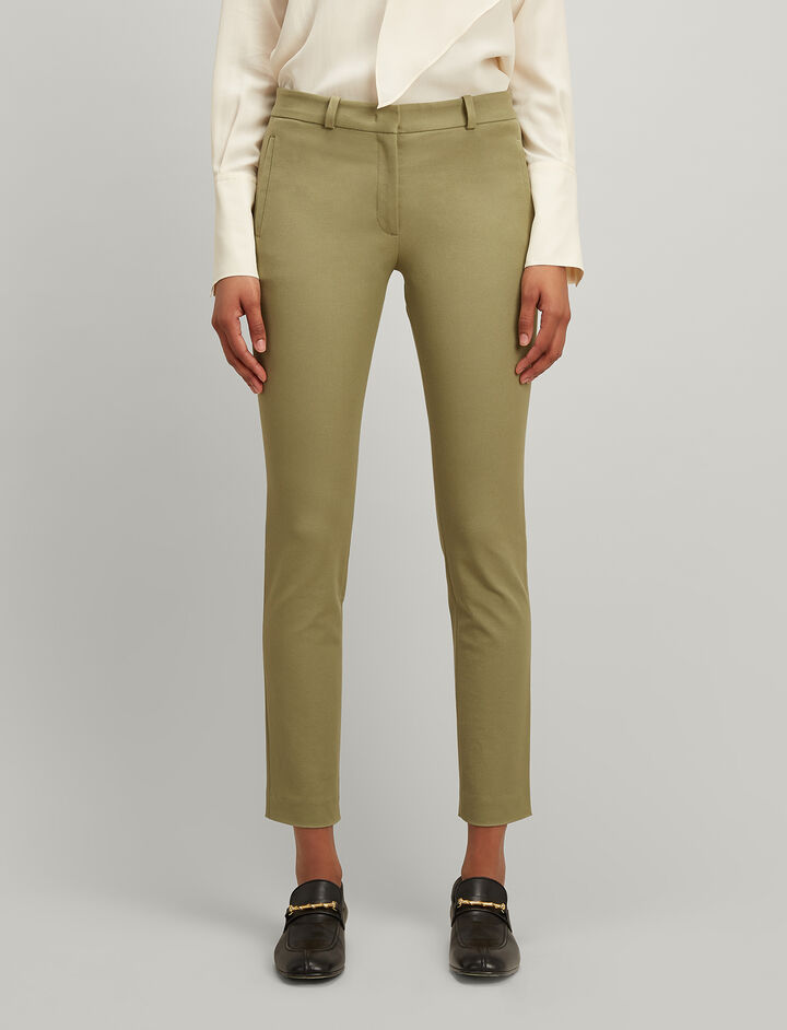 Joseph, Gabardine Stretch New Eliston trousers, in PEA