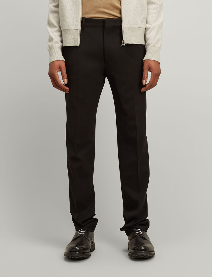 Joseph, Techno Wool Stretch Jack Suiting Trousers, in BLACK