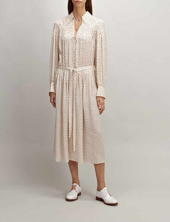 Joseph, Heart Spot Crosby Dress, in ECRU