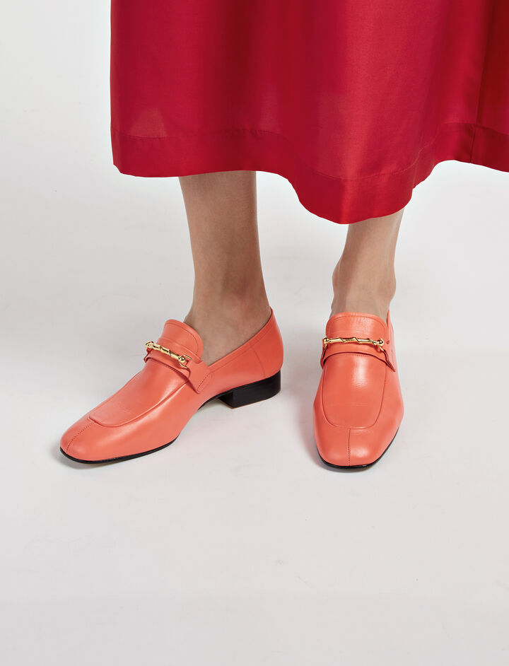 Calf Leather Piccadilly Loafer, in CORAL, large | on Joseph
