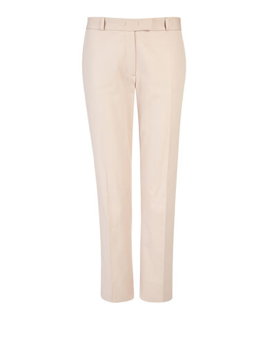 Compact Cotton Stretch Bing Court Trousers, in CAMEO, large | on Joseph