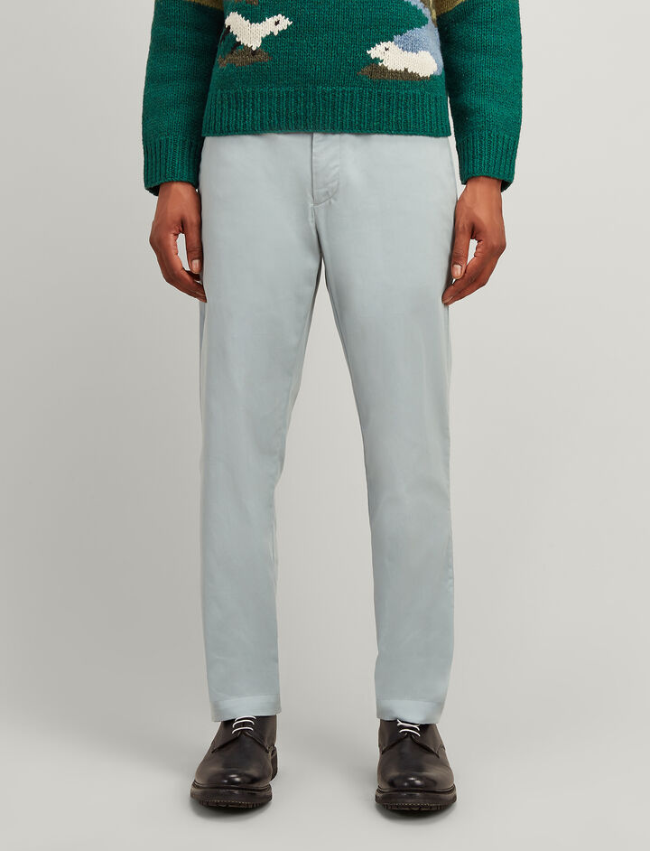 Twill Chino California Trousers, in ETON, large | on Joseph