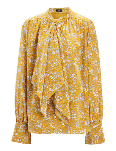 Blouse Cora à imprimé Liberty, in DARK OCHRE, large | on Joseph