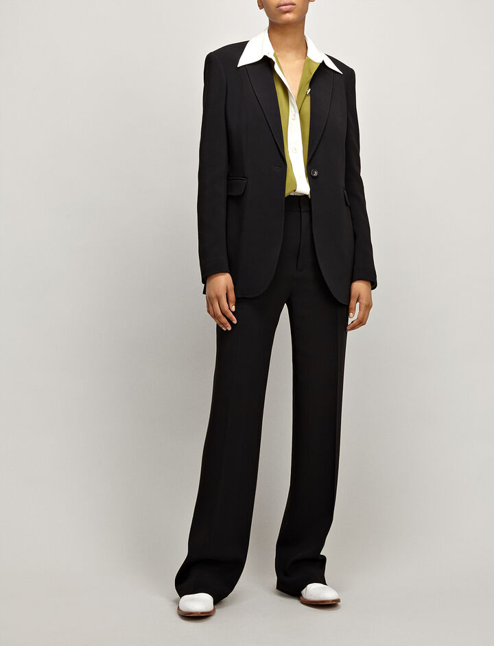Joseph, Viscose Cady Laurent Jacket, in BLACK