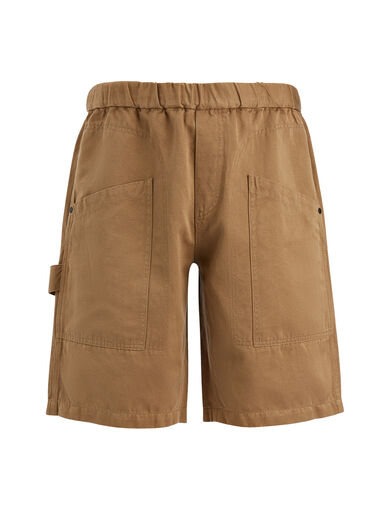 Linen Cotton Angus Shorts, in CLAY, large | on Joseph