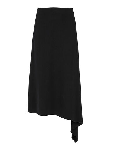 Fluid Crepe Ava Skirt, in BLACK, large | on Joseph
