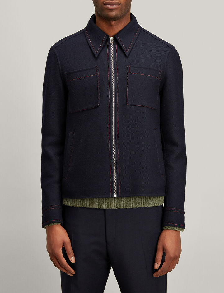 Joseph, Uniform Twill Hogarth Coat, in NAVY