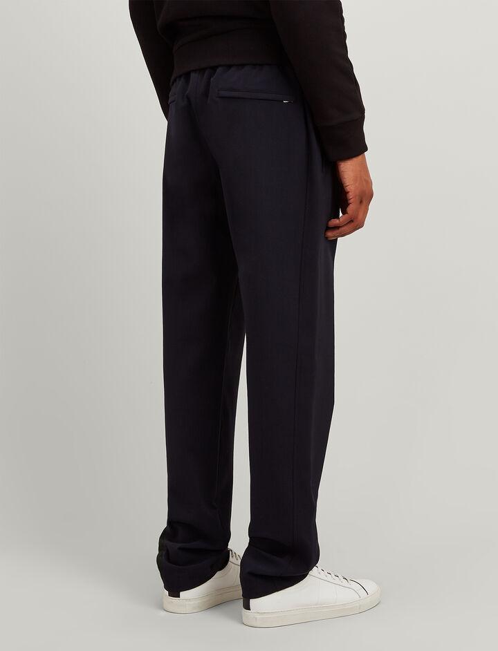 Techno Wool Stretch Ettrick Trousers, in DARK NAVY, large | on Joseph