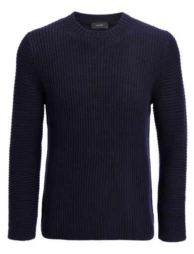 Cardigan Cashmere Sweater, in NAVY, large | on Joseph