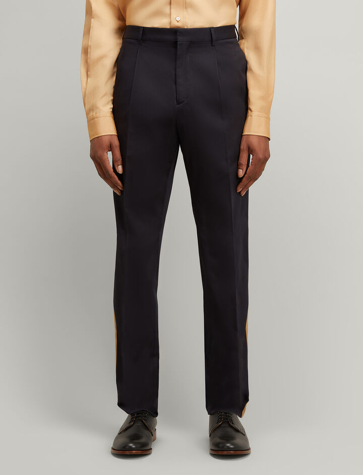Joseph, Stripe Twill Anderson Chino Trousers, in NAVY
